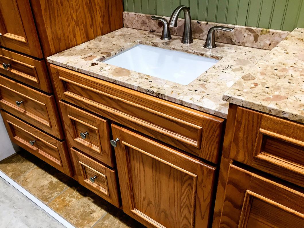 Bathroom Countertop Installation Cincinnati OH Carolina Granite - Replace bathroom countertop